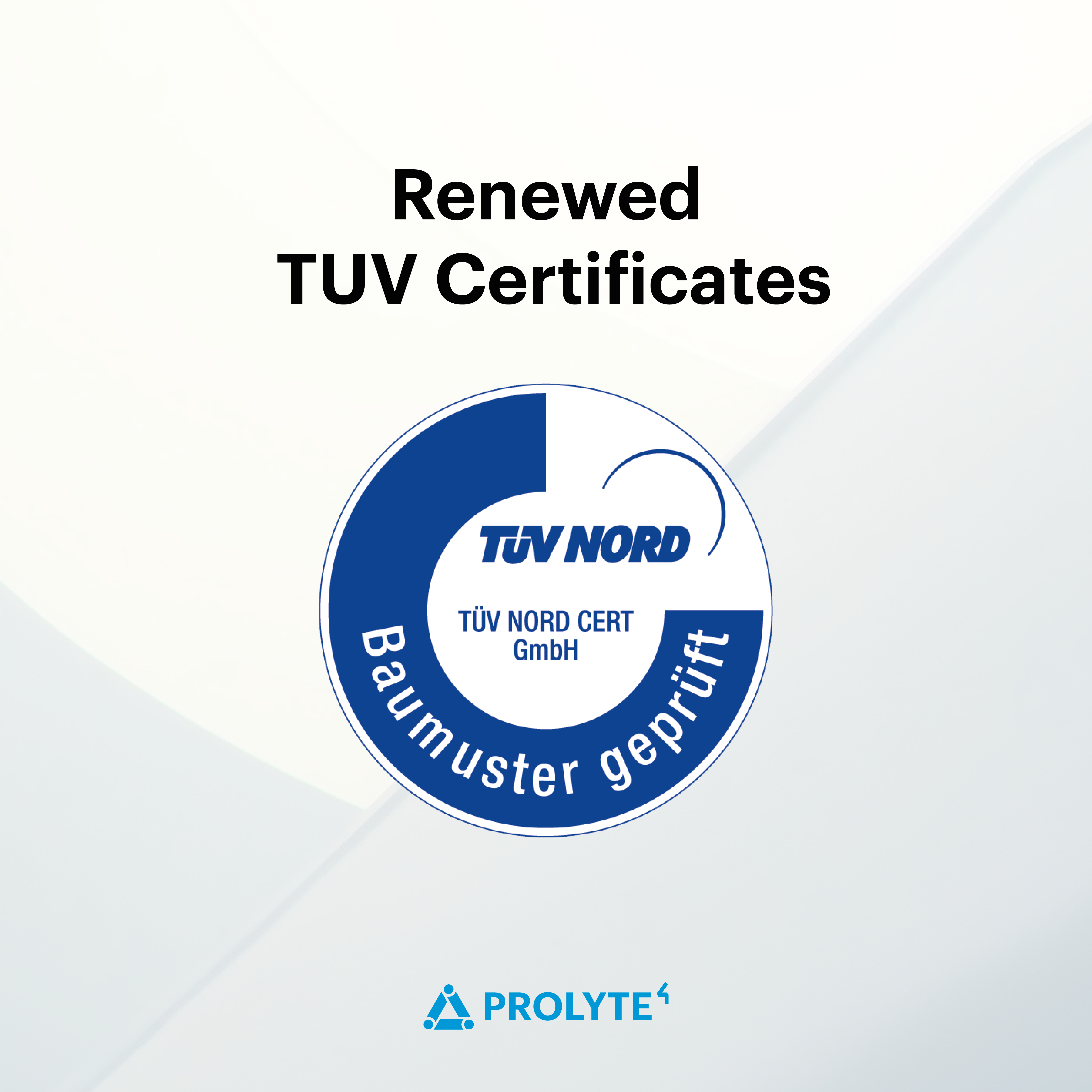 Prolyte Renews TUV Certificates