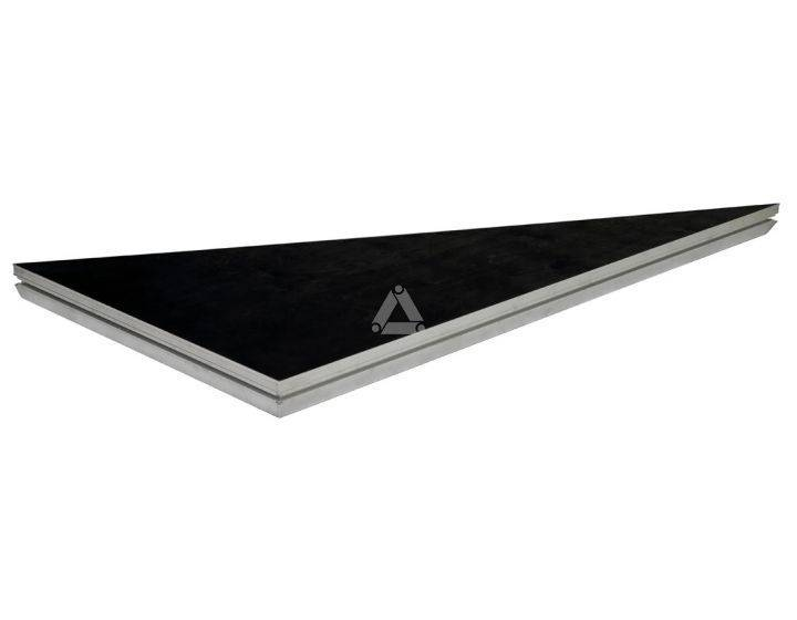 Basicline Black Coated Triangle L 2x1m