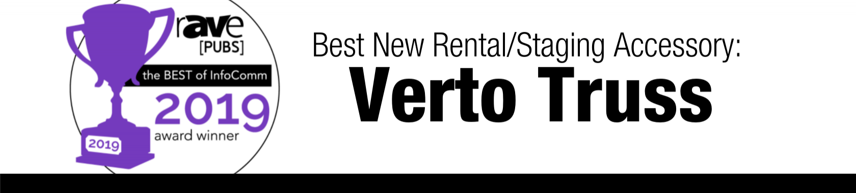 Verto Truss recognized as Best New Rental/Staging Accessory